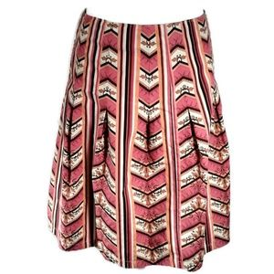 Ann Taylor Loft Skirt Chevron and Stripes Size 4